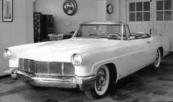 1956 Lincoln Continental Mark II Convertible fvl BW