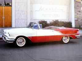 1956 Oldsmobile Super 88 Convertible Red White fsv