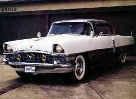 1956 Packard Four Hundred 2 Door Hardtop Black White fvl