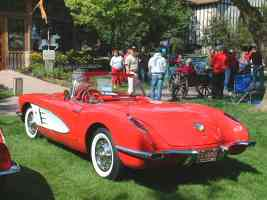 1959 Chevrolet Corvette Convertible Red rvl Canterbury Village Car Show F