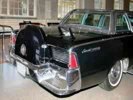 1961 Lincoln Presidential Bubble Top Parade Limousine Kennedy Assasinated Nov 1963 Rear Clip H Ford Museum CL