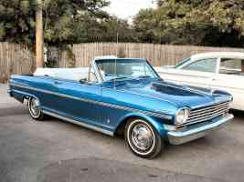 1963 Chevrolet Chevy II Nova SS Convertible Blue fvr 2004 Dream Cruise N