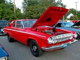 1963 Dodge 440 2 Door Sedan with Modified 426 Wedge Vermillion fvr 2005 Dream Cruise N