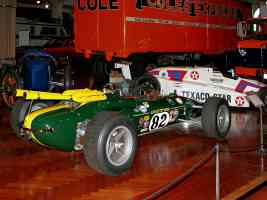 1965 Lotus 38 with 255 CID 510 HP Ford DOHC V 8 Speed 200 MPH Green rvr H Ford Museum CL