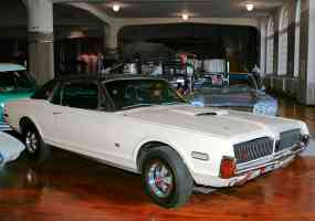 1968 Mercury Cougar 390 with Power Sunroof ASC American Sunroof Company White fvr H Ford Museum CL