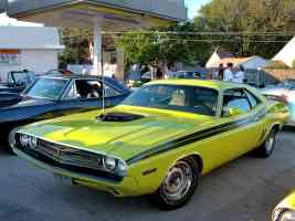 1971 Dodge Challenger R T 383 Magnum Black Shaker Hood Sub Lime fvl 2005 Dream Cruise N