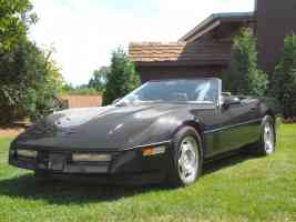 1988 Chevrolet Corvette Convertible Black Low fvl Canterbury Village Car Show F