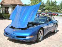 2002 Chevrolet Corvette Coupe Electron Blue fvl Canterbury Village Car Show F