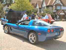 2002 Chevrolet Corvette Coupe Electron Blue rvl Canterbury Village Car Show F