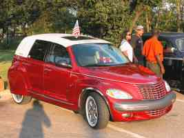 2002 Chrysler PT Cruiser Custom Car Convertible WSW Tires Fender Skirts Red fvl 2004 Dream Cruise N