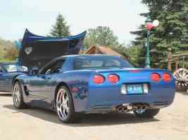 2003 Chevrolet Corvette Z06 Electron Blue rvl Canterbury Village Car Show F