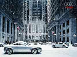 audi tt in the snow