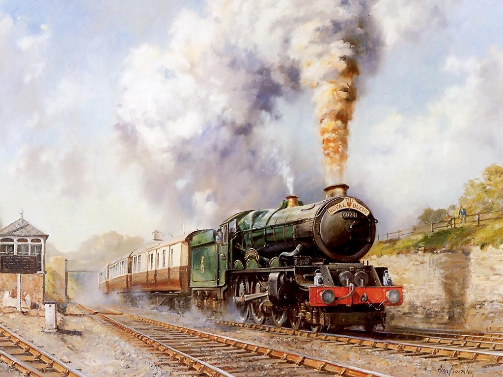 The Royal Duchy Steam Train Painting