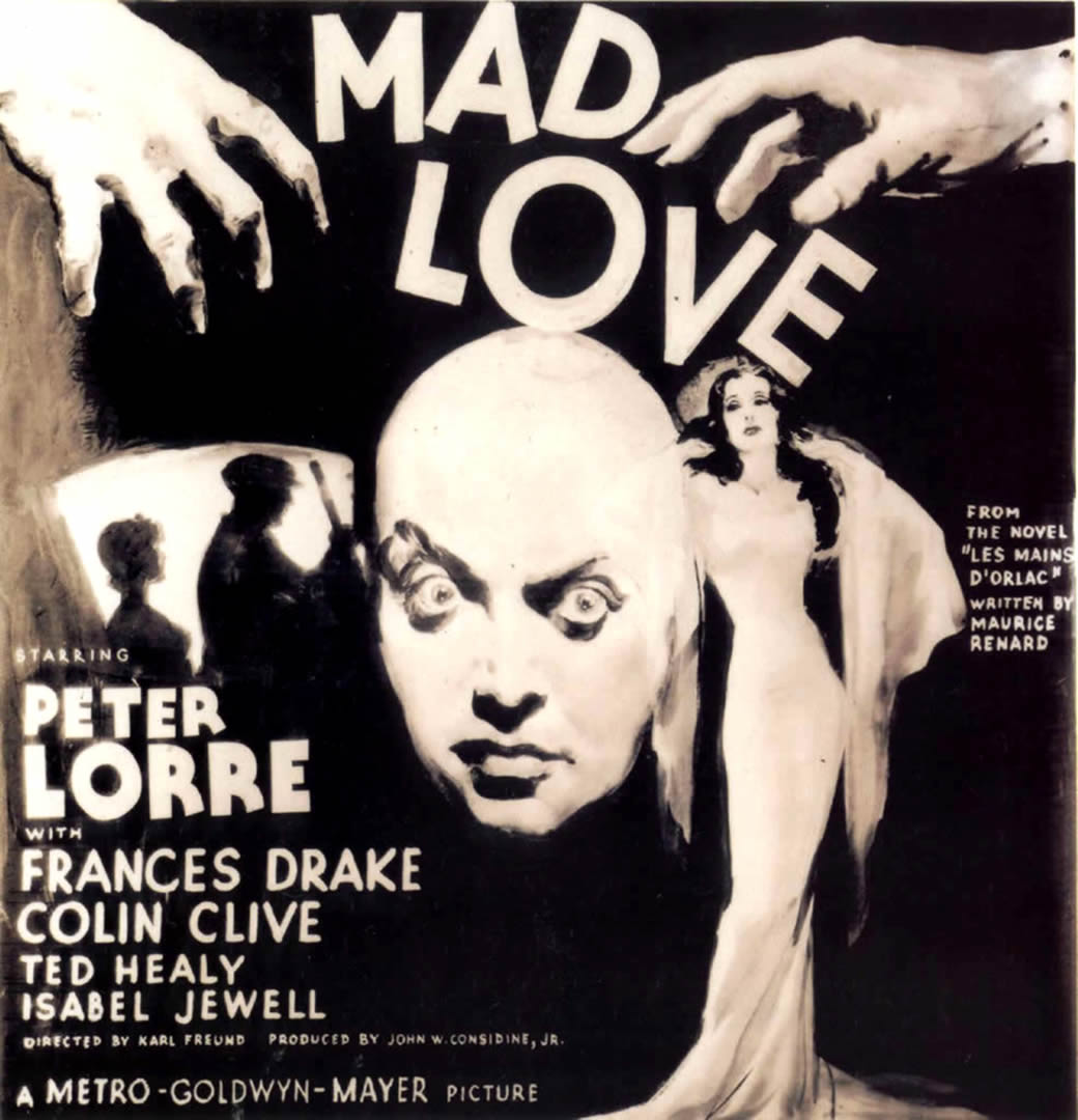mad love black and white vintage 1930s movie posters