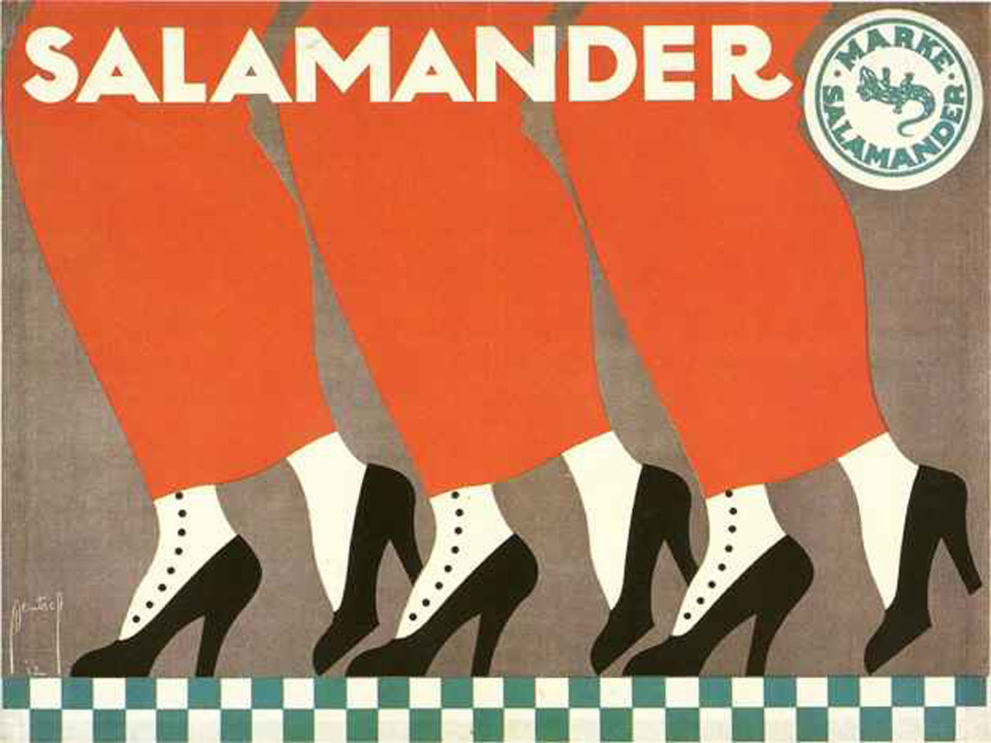 Salamander Shoes - vintage ad posters wallpaper image