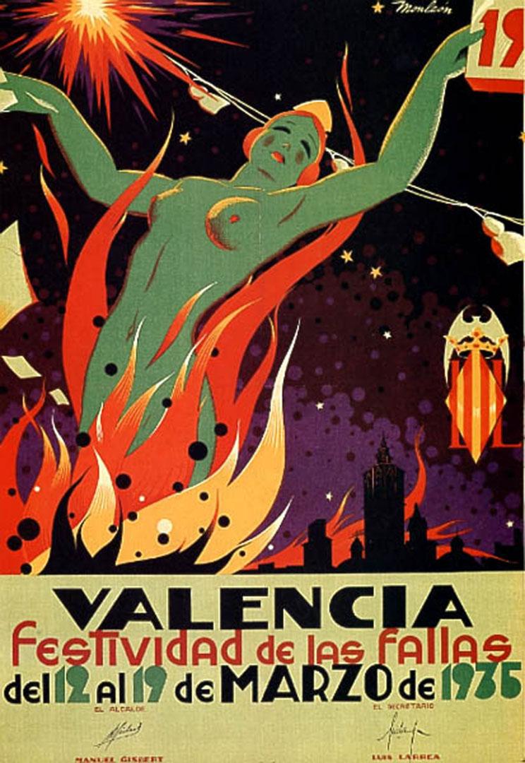 Valencian festival 1935 vintage ad posters - Vintage valencia ...