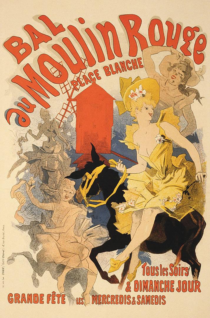 Bal Au Moulin Rouge 2 - Vintage European Fine Art Posters