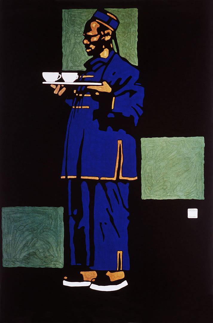 Blue Chinaman With Tea