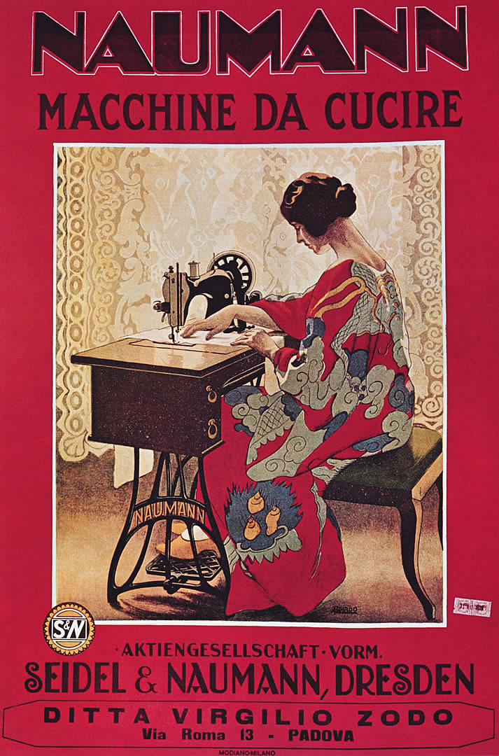 Naumann Sewing Machines Vintage European Fine Art Posters Adorable Sewing Machine Wallpaper