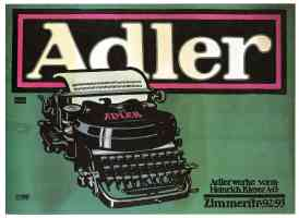 Adler typewriters