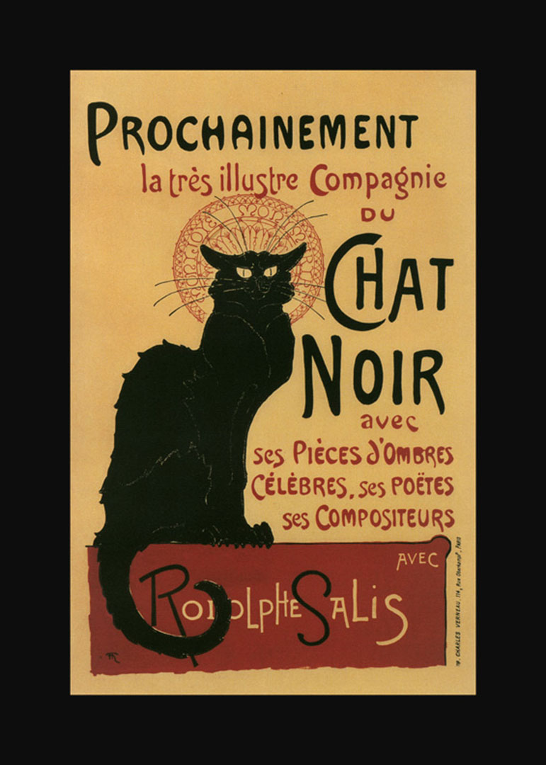Chat Noir - Wallpaper Image from the Vintage French Posters collection