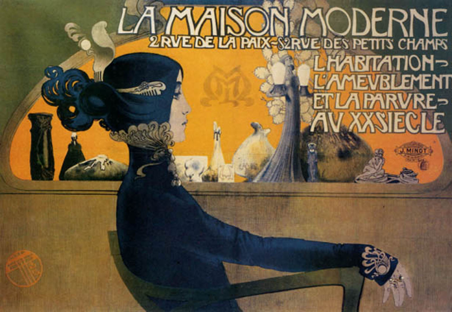la maison moderne vintage french posters. Black Bedroom Furniture Sets. Home Design Ideas