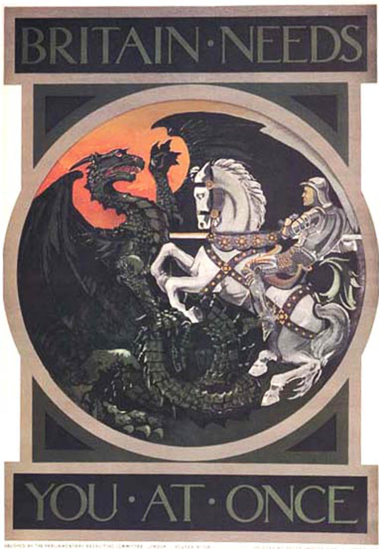 Image result for st george dragon propaganda