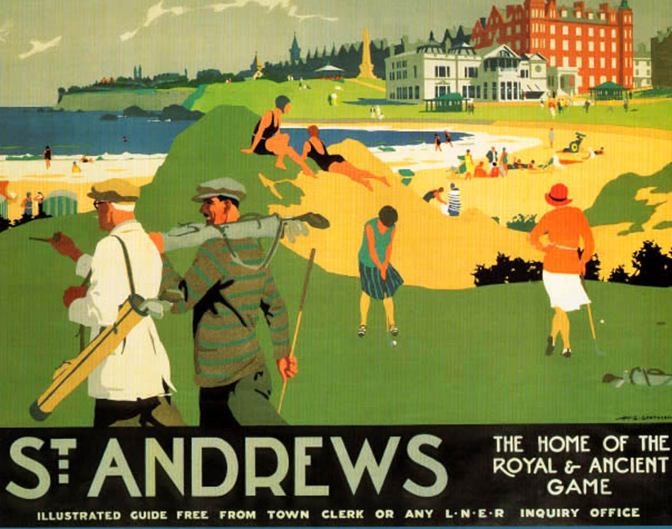 st andrews golf vintage sports posters