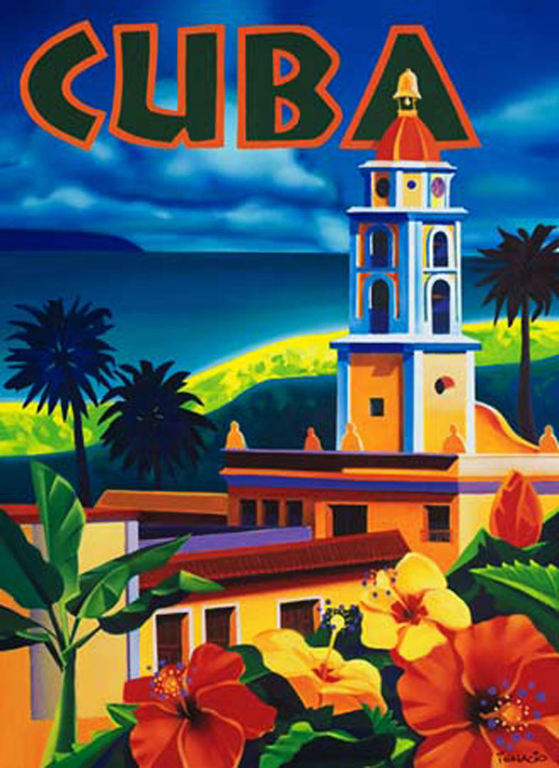 Cuba vintage tourism posters for Posters art prints
