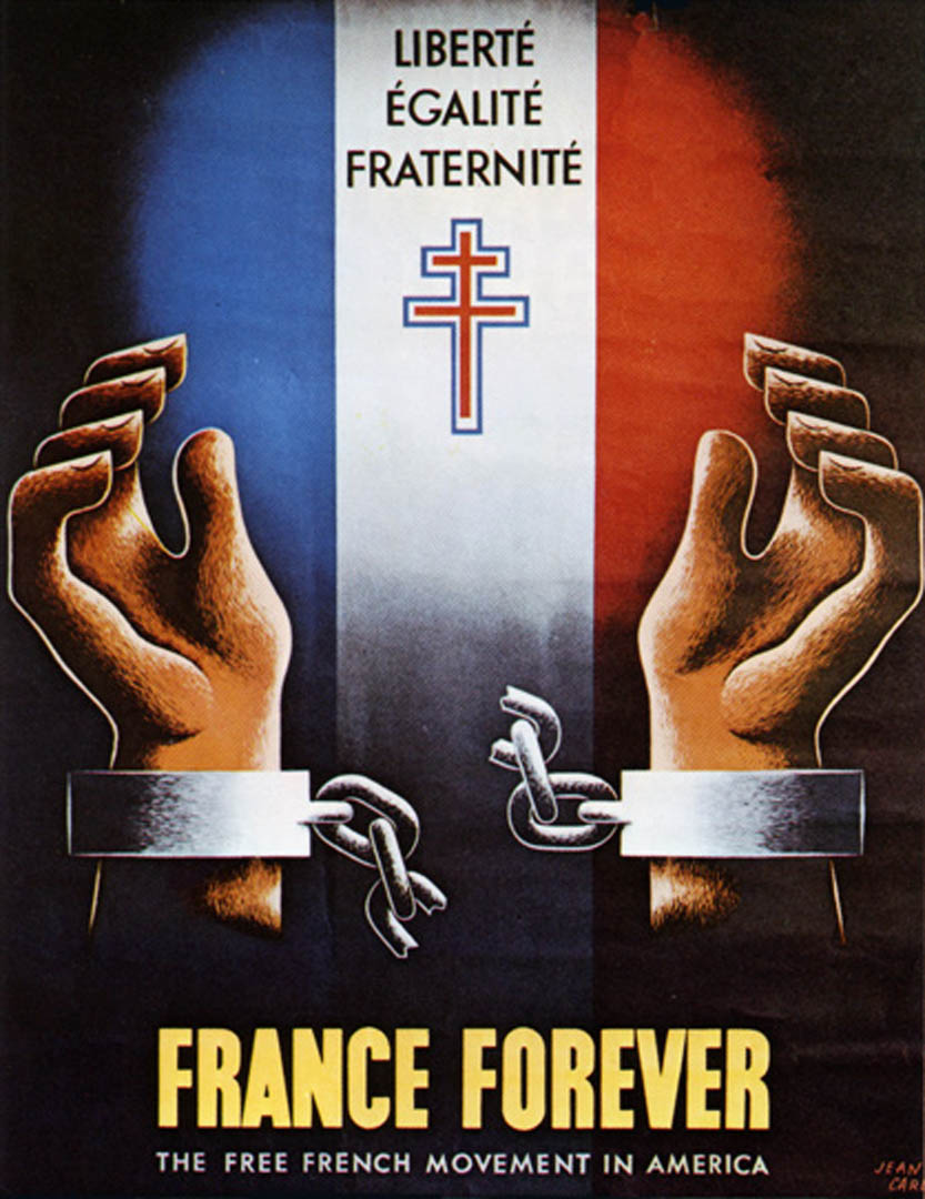 France forever vintage world war 2 posters for Poster revolution france
