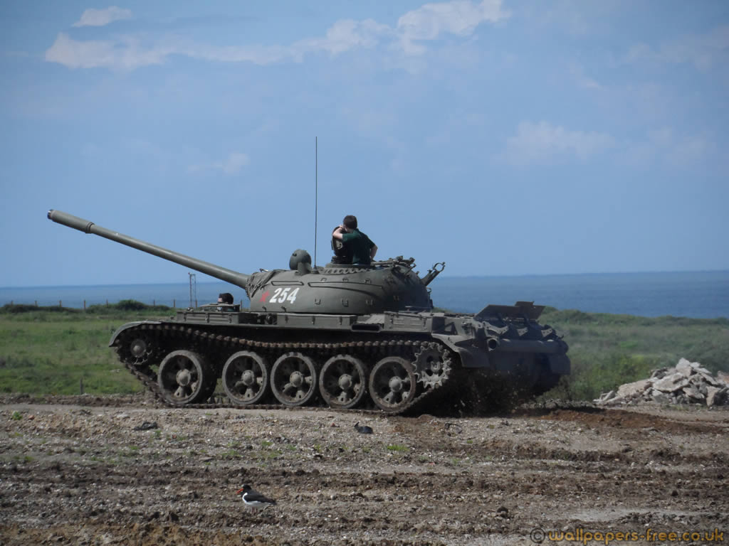 Russian T55 Mbt Tank Side View