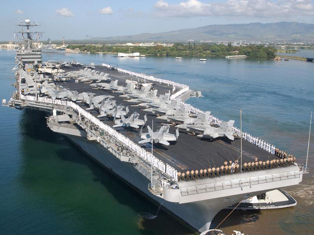 Aircraft Carrier Ready For Inspection