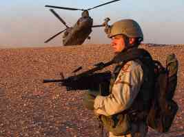 Security Duty CH 47 Chinook Helicopter Iraq