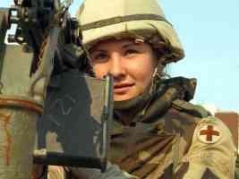 Spc Janet Sutter on Mission in Baghdad Iraq