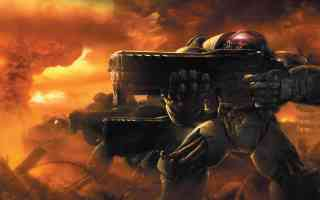 terran marines on the attack
