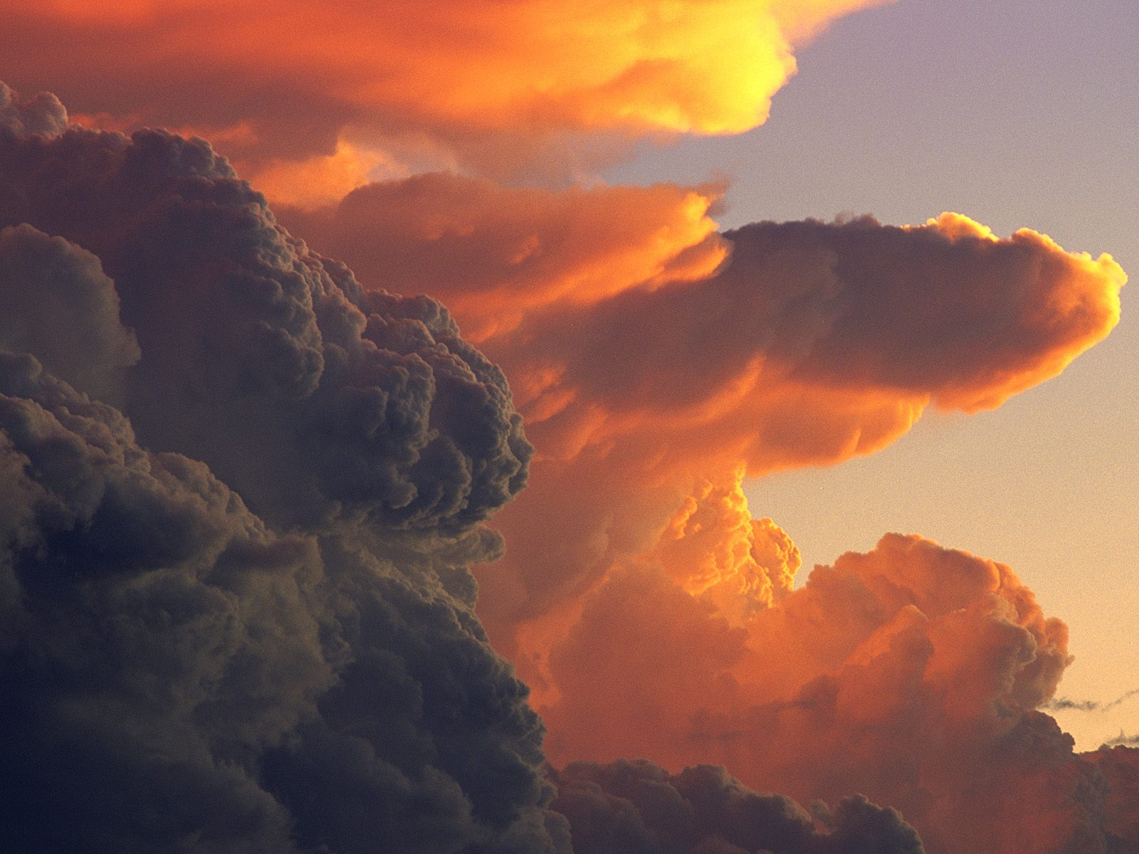 cumulus clouds at sunset clouds wallpaper ayay co uk