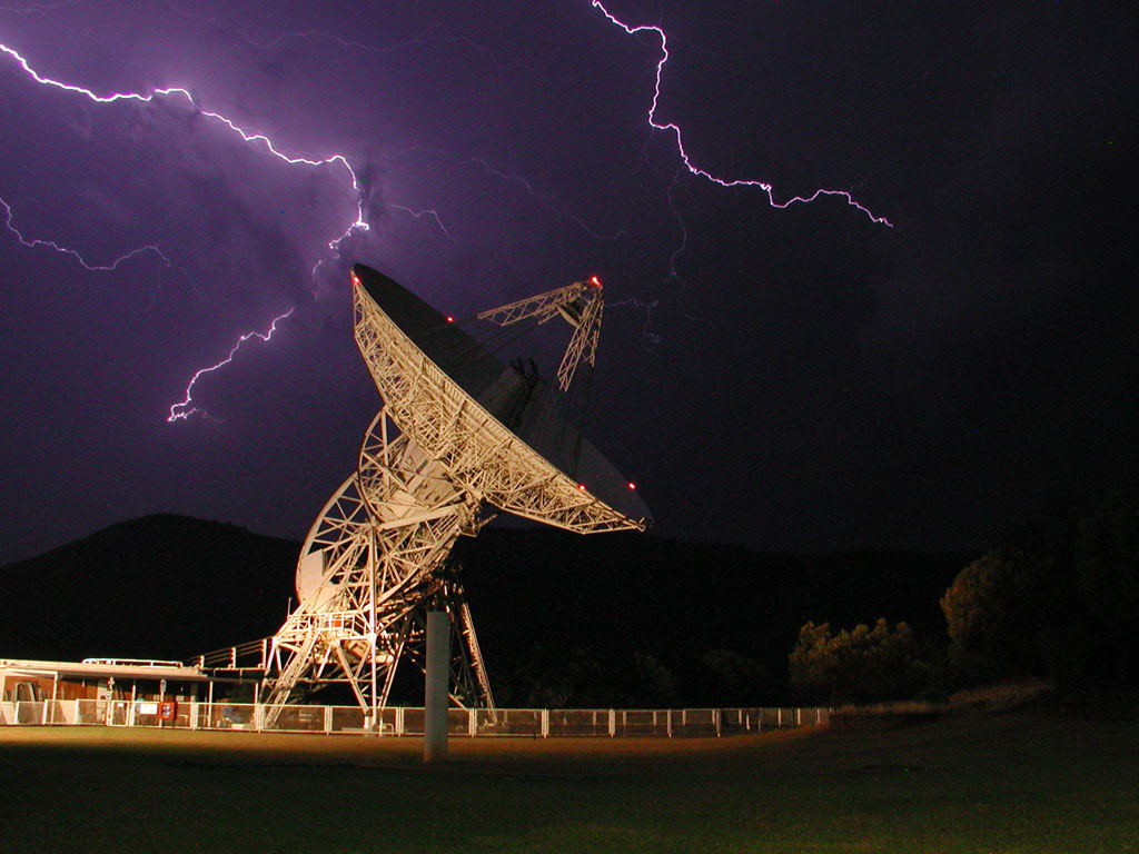 Satellite Dish And Lightning