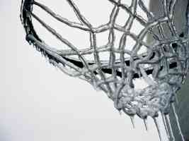 basketball net after sudden freeze