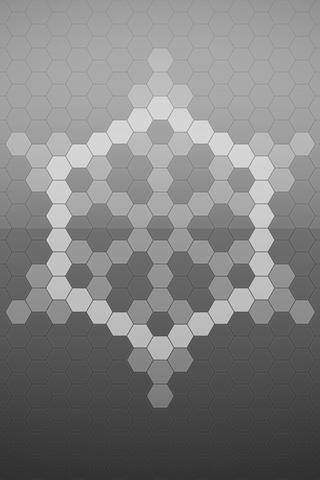 Abstract Digital Snowflake