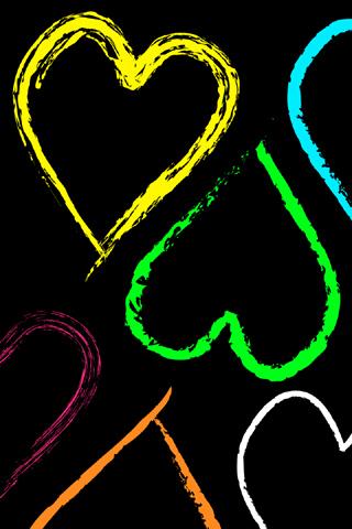 Abstract Rainbow Hearts