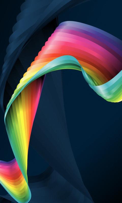 Abstract Rainbow Ribbon
