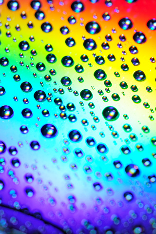 Abstract Waterdrops On The Rainbow