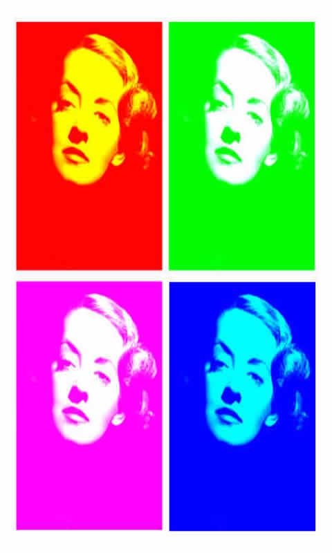 Pop Warhol Bette Davis