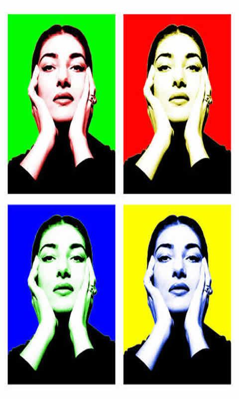 Pop Warhol Maria Callas
