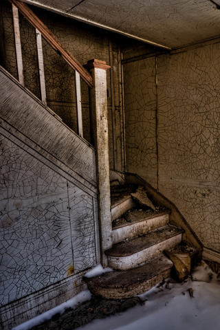 Derelict Ghostly Staircase