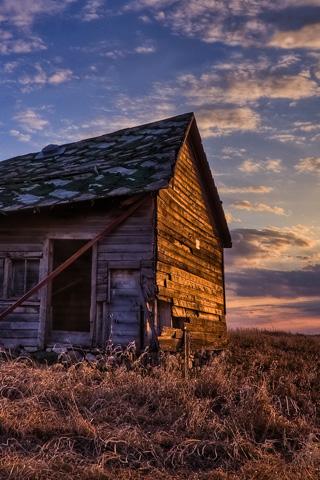 Farm Prairie Sunset
