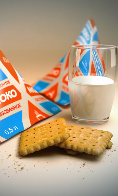 Sweets Milk And Biscuits
