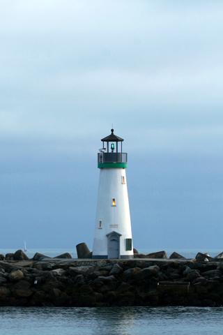 Coastal Santa Cruz Harbor Lighthouse