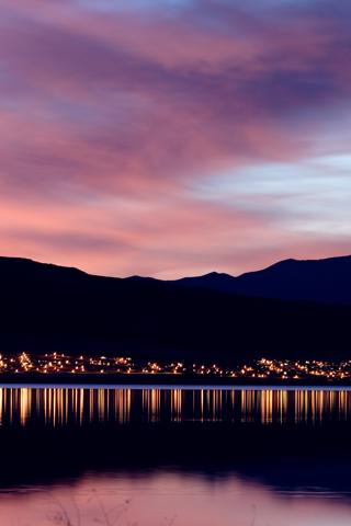 American Utah Lake At Dusk