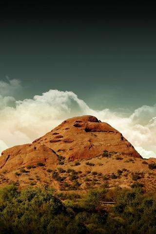 Desert Desert Hill And Dark Sky